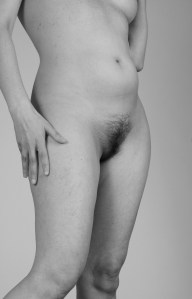 Standing Nude with Hair