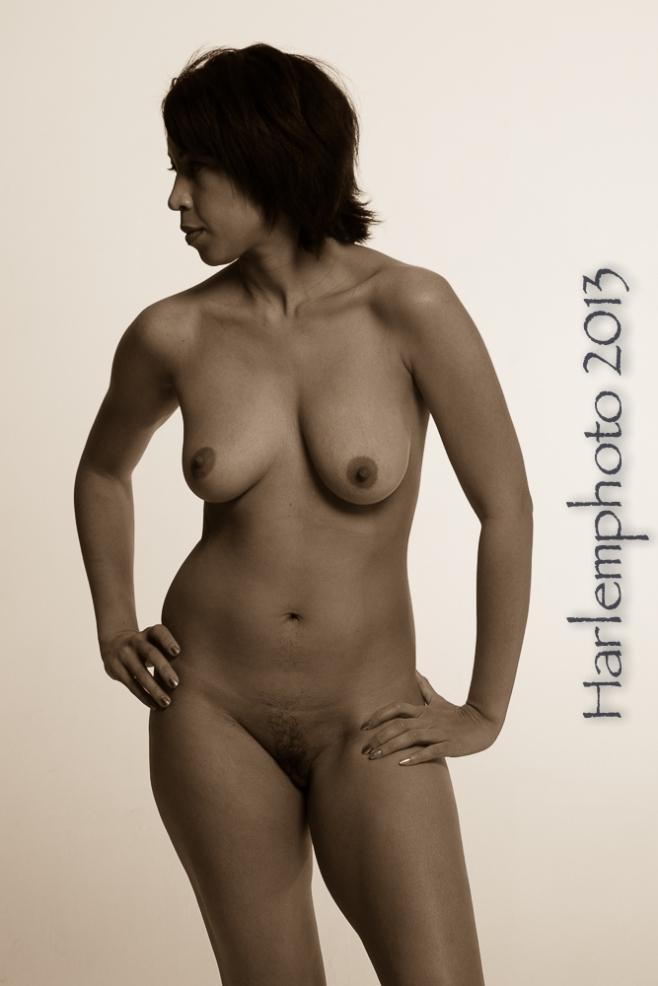 Nude standing torso